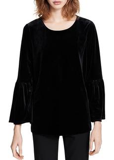 Calvin Klein Bell-Sleeve Velvet Top