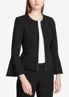 Calvin Klein Bell-Sleeve Zip-Front Jacket, Regular & Petite