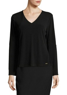 Calvin Klein Bell-Sleeved V-Neck Top