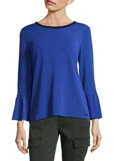 Calvin Klein Bell Sleeves Thick Celestial Top