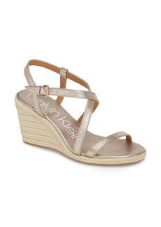 Calvin Klein Bellemine Espadrille Wedge Sandal (Women)