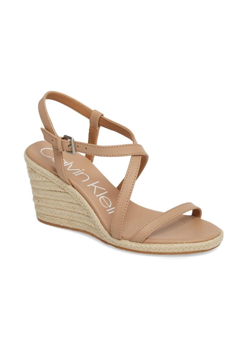 08bde21a73f23 Calvin Klein Calvin Klein Bellemine Espadrille Wedge Sandal (Women ...