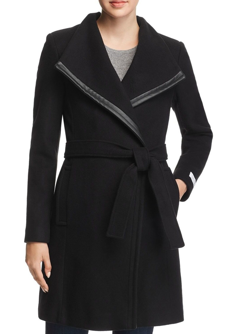 Calvin Klein Belted Asymmetric Front Coat