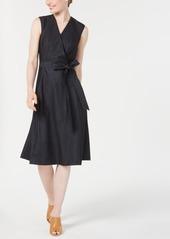Calvin Klein Belted Fit & Flare Dress