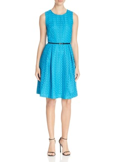 Calvin Klein Belted Lace Dress