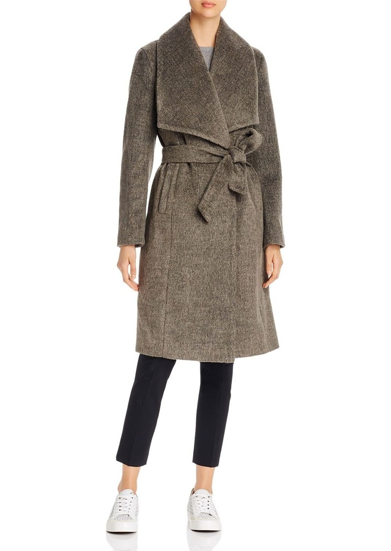 Calvin Klein Belted Long Wrap Coat