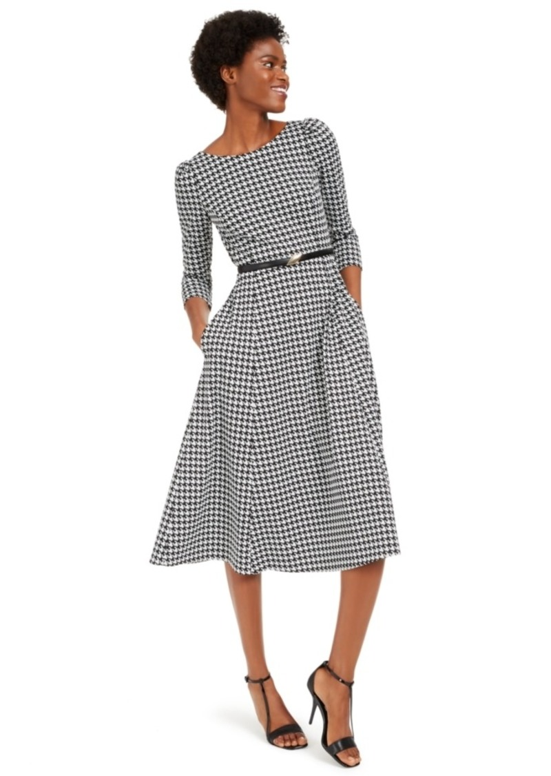 Calvin Klein Belted Midi Dress