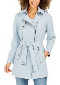Calvin Klein Belted Water-Resistant Raincoat