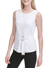 Calvin Klein Belted Sleeveless Top
