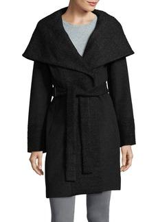Calvin Klein Belted Wool-Blend Coat