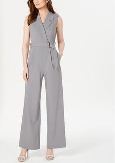 Calvin Klein Belted Wrap Jumpsuit