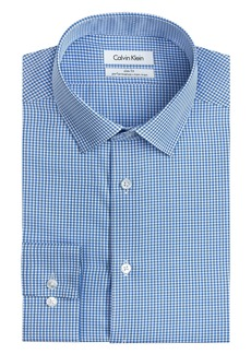 Calvin Klein Men's Big and Tall Dress Shirt Slim Fit Non Iron Gingham