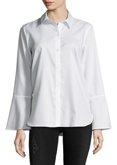 Calvin Klein Birch Cotton Button-Down Shirt