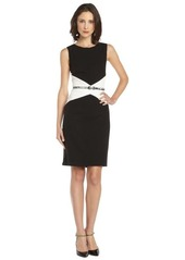 Calvin Klein black and ivory tank colorblock dress