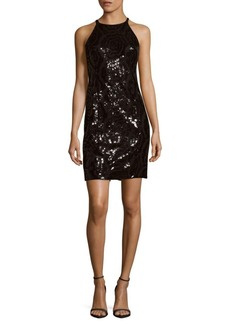 Calvin Klein Black Sequin Dress