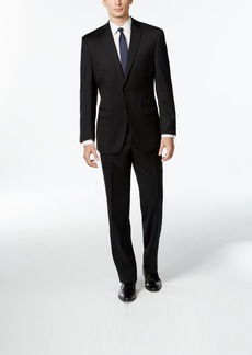 Calvin Klein Black Solid Modern-Fit Suit