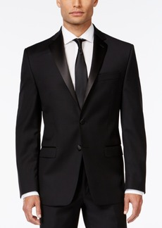 Calvin Klein Black Solid Modern Fit Tuxedo Jacket