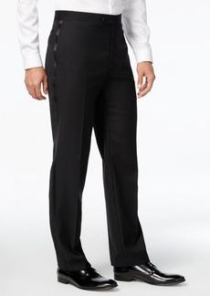 Calvin Klein Black Solid Modern Fit Tuxedo Pant