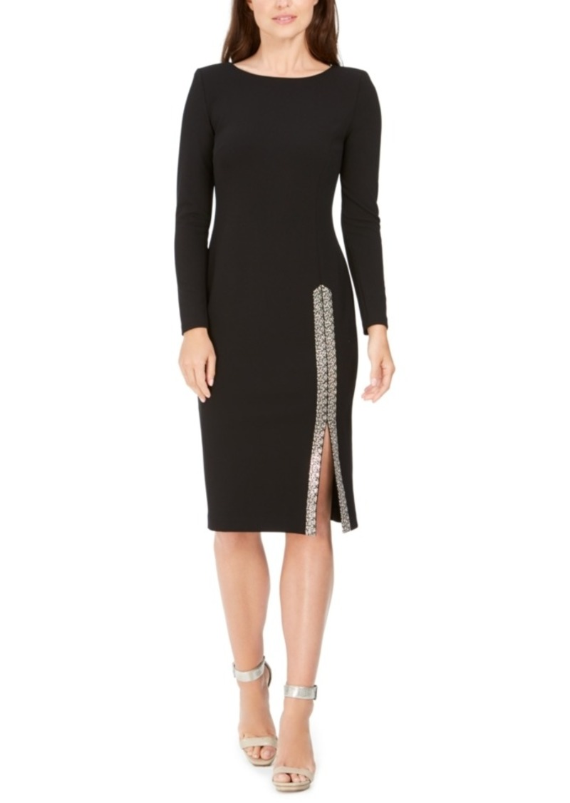 Calvin Klein Blingy Scuba Crepe Sheath Dress