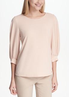Calvin Klein Blouson-Sleeve Blouse