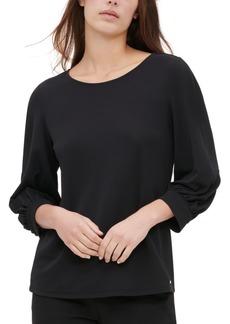 Calvin Klein Blouson-Sleeve Top