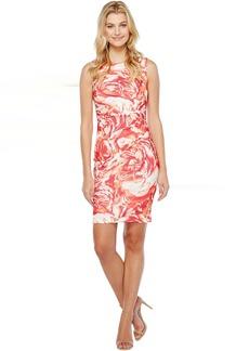 Calvin Klein Blurred Floral Starburst Sheath Dress