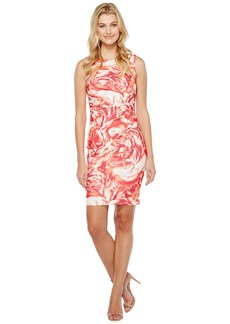 Calvin Klein Blurred Floral Starburst Sheath Dress