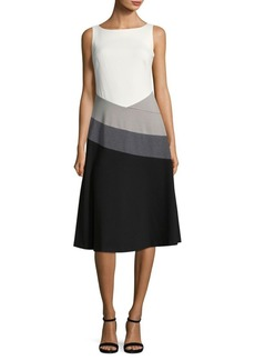 Calvin Klein Boatneck Knee-Length Dress
