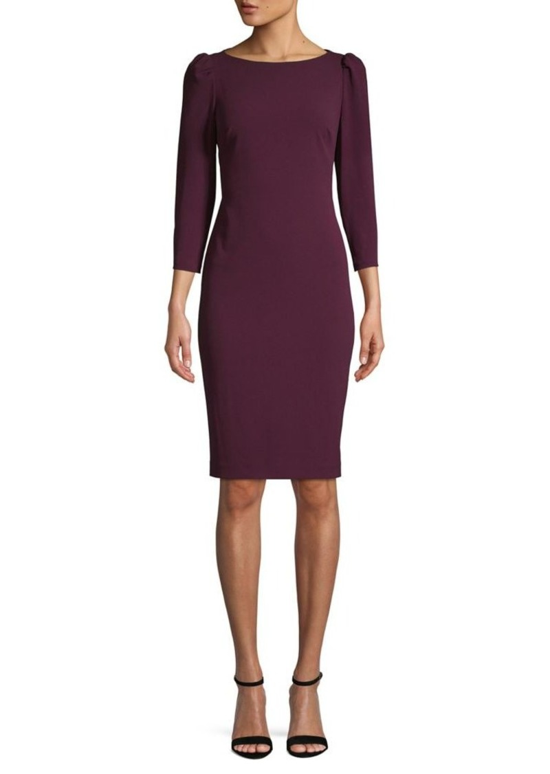 Calvin Klein Boatneck Knee-Length Sheath Dress