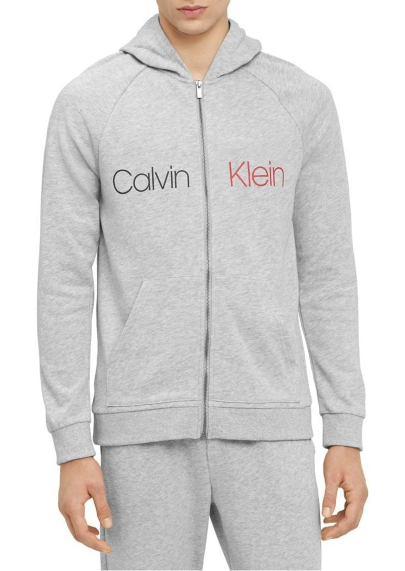 Calvin Klein Bold Accents Logo Lounge Zip Hoodie