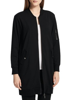 Calvin Klein Bomber-Style Longline Jacket