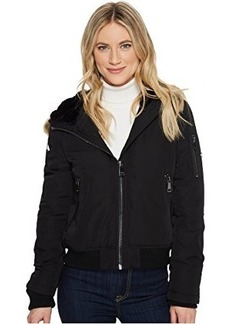 Calvin Klein Bomber with Fur Trimmed Hood