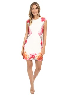 Calvin Klein Border Print Floral Dress CD6M2L8U