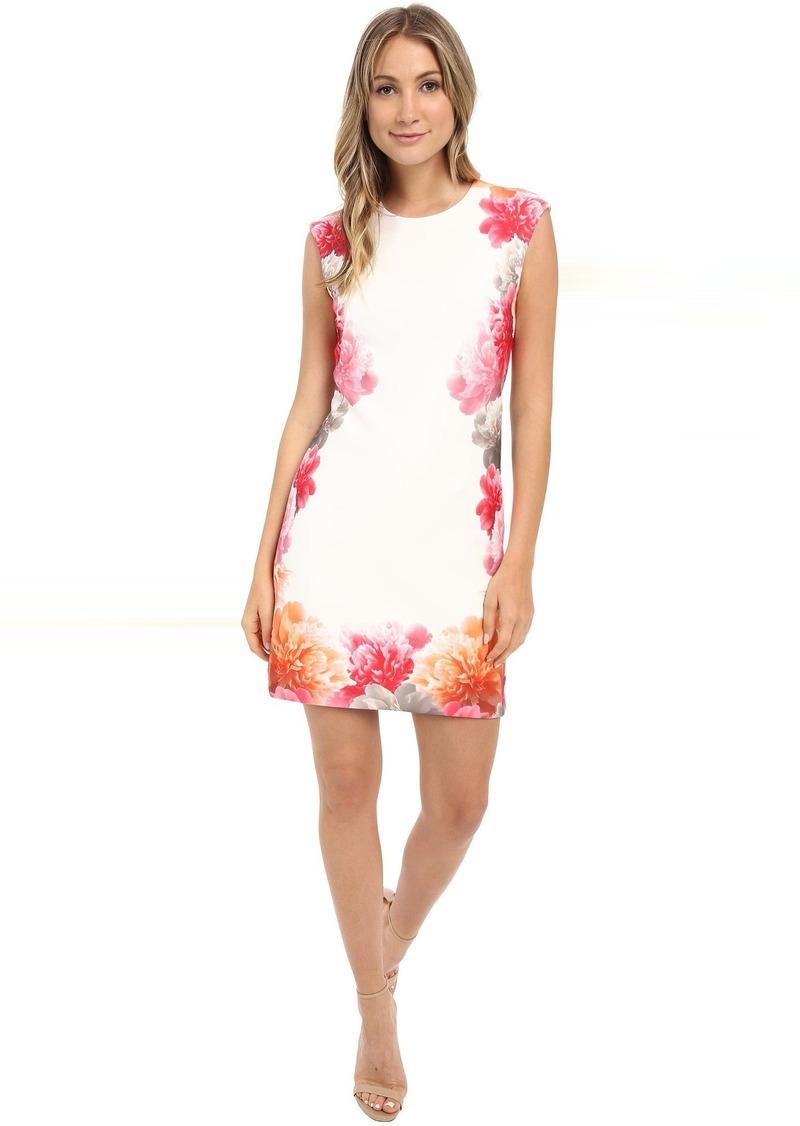c303a5b2e68 Border Print Floral Dress CD6M2L8U