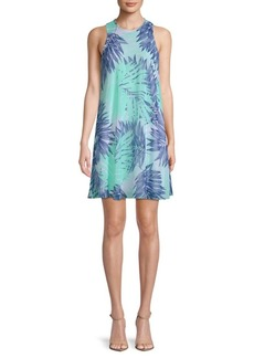 Botanical-Print Mini Dress
