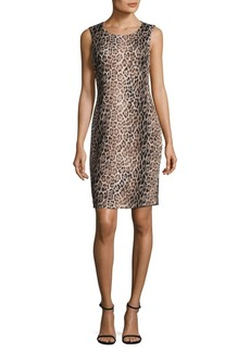 Calvin Klein Botanical-Print Sheath Dress