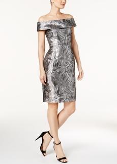 Calvin Klein Brocade Off-The-Shoulder Sheath Dress, Regular & Petite Sizes