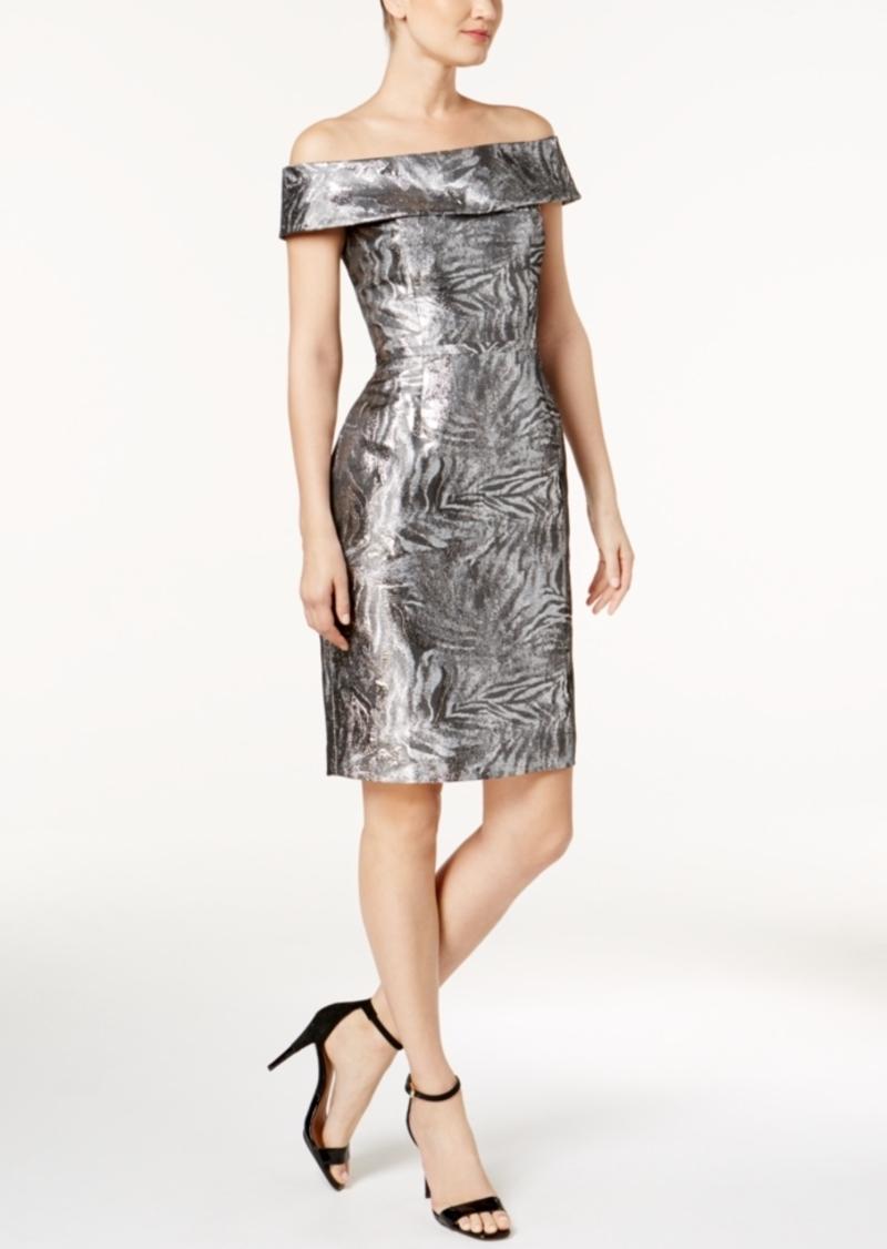 c3cbc926c2bf On Sale today! Calvin Klein Calvin Klein Brocade Off-The-Shoulder ...