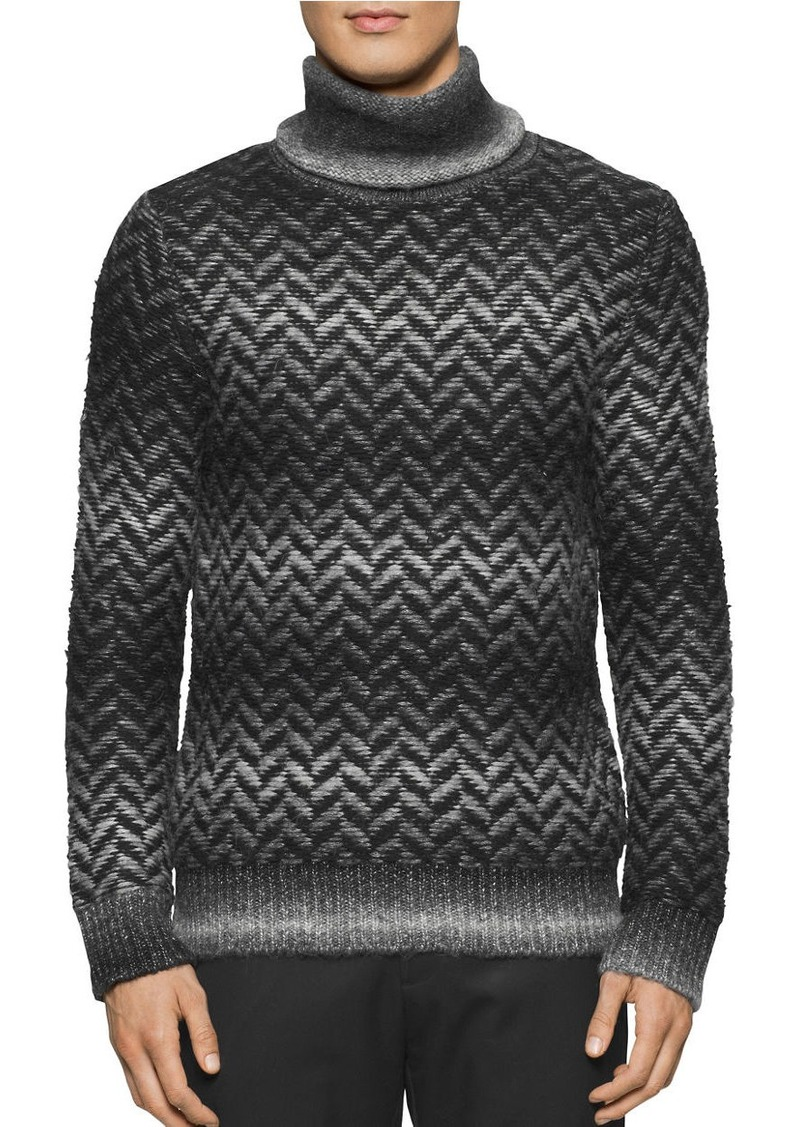 CALVIN KLEIN Broken Space Dye Herringbone Sweater