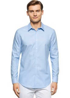 Calvin Klein Brunswick Slim-Fit Long-Sleeve Shirt