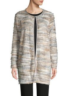 Calvin Klein Brushed Knit Faux Fur Long Cardigan