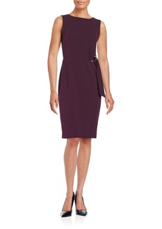 CALVIN KLEIN Buckle Accented Sheath Dress