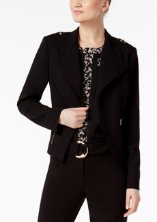 Calvin Klein Buckle-Detail Open-Front Blazer