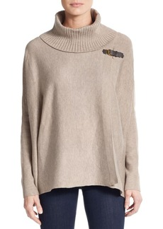 Calvin Klein Buckled Sweater Cape
