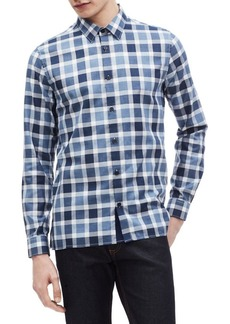 Calvin Klein Buffalo Plaid Brushed Flannel Shirt