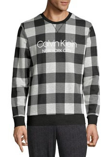 Calvin Klein Buffalo Plaid Stretch Sweatshirt