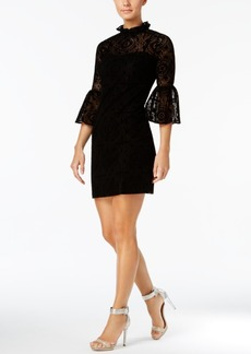 Calvin Klein Burnout Velvet Lace Bell-Sleeve Dress, Regular & Petite Sizes