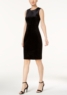 Calvin Klein Burnout Velvet Sheath Dress
