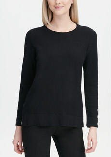 Calvin Klein Button-Cuff Sweater