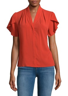 Calvin Klein Button-Down Short Sleeve Top